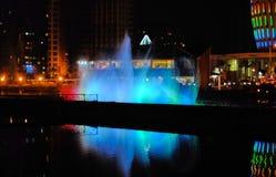 Musikalisk springbrunn i Batumi, Georgia Arkivfoto