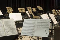 musikalisk ställning Arkivfoto