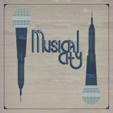Musikalisk stad Arkivbild