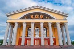 Musikalisk teater av Karelia, Petrozavodsk, Ryssland Arkivfoto
