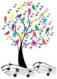 musikalisk tree Royaltyfri Foto