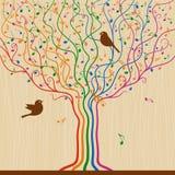 musikalisk tree Royaltyfri Fotografi