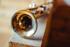musikalisk trumpet för instrument arkivfoton
