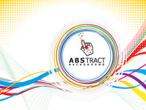 musikalisk wave för abstrakt cirkelbegrepp Arkivfoto