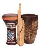 musikaliska afrikanska etniska instrument Royaltyfri Bild