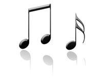 musikaliska anmärkningar Arkivfoton