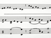 musikaliska anmärkningar Royaltyfri Illustrationer