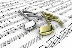 musikaliska anmärkningar Royaltyfri Foto