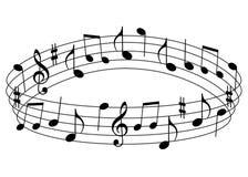 musikaliska anmärkningar Royaltyfria Bilder