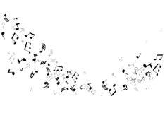 Musikaliska anmärkningar Arkivbild