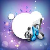 musikaliska anmärkningar 3D på blank bakgrund. vektor illustrationer