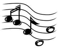 musikaliska anmärkningar Royaltyfri Bild