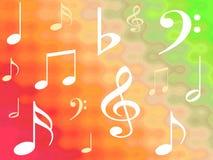 musikaliska anmärkningar vektor illustrationer
