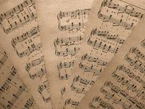 Musikaliska anmärkningar för musik Royaltyfri Fotografi