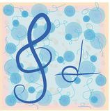 Musikaliska anmärkningar för vektor. Klotterstil Arkivbilder