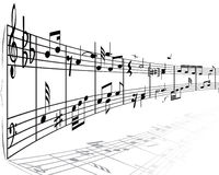musikaliska anmärkningar stoppar royaltyfri illustrationer