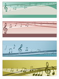 musikaliska baner Royaltyfria Bilder