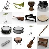 musikaliska instrument Arkivbilder