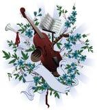 musikaliska instrument stock illustrationer