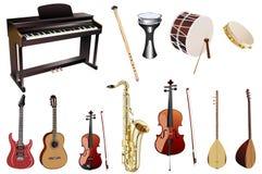 musikaliska instrument Arkivfoto