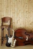 musikaliska instrument Fotografering för Bildbyråer
