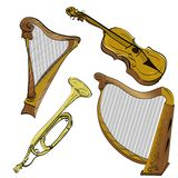 musikaliska instrument royaltyfri illustrationer
