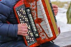 musikaliska instrument Orkesterkapacitet på festivalen Arkivfoto