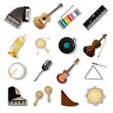 Musikaliska instuments royaltyfri illustrationer