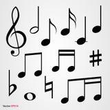 musikaliska set symboler Royaltyfri Foto