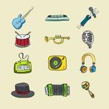 Musikaliska symboler Arkivfoto
