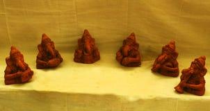 Musikaliska vinayakagudskulpturer Arkivfoton
