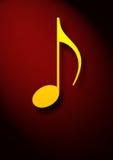 musikaliskt anmärkningssymbol Royaltyfri Bild
