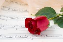 musikaliskt ark royaltyfria foton
