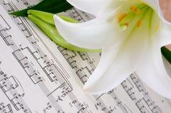 musikaliskt ark arkivbilder