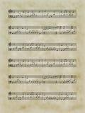 musikaliskt ark Vektor Illustrationer