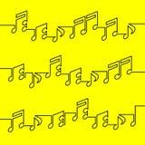 musikaliskt beteckningssystem Royaltyfria Foton