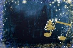 Musikaliskt hälsningkort för jul vektor illustrationer