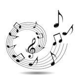 musikaliskt tema Royaltyfri Bild