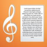 Musikanmärkning - G-klav Arkivfoton
