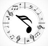 Musikanmärkning med symboler Royaltyfri Fotografi