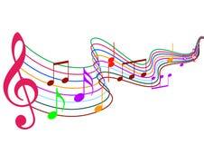 musikanmärkningar royaltyfri illustrationer