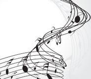 musikanmärkningar Arkivbilder