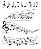musikanmärkningar arkivfoto
