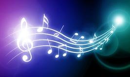 Musikanmärkningar Royaltyfri Foto