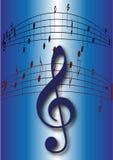 musikanmärkningar Royaltyfri Fotografi