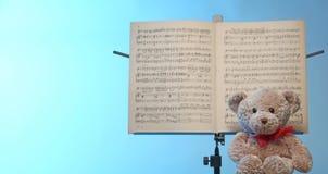 Musikanmärkningsställning arkivbilder