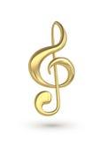 Musikanmärkningssymbol Fotografering för Bildbyråer