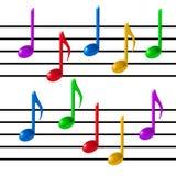 Musikanmärkningsvektor Arkivfoto