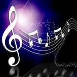Musikanmerkung über eine Stufe Lizenzfreies Stockfoto