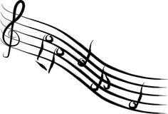 Musikanmerkung stock abbildung